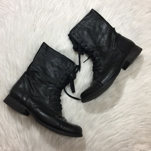 Steve Madden Kombat Black Leather Trooper Boot 9